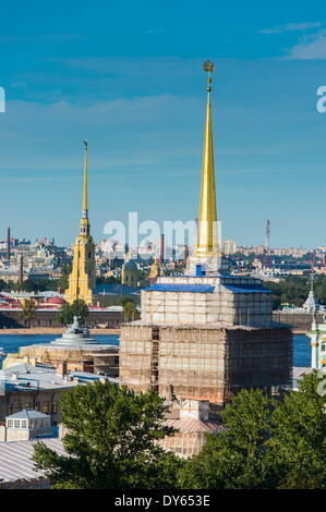 View from the Saint Isaac's Cathedral, St. Petersburg, Russia, Europe - Stock Photo