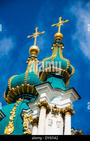 St. Andrews Church in Kiev (Kyiv), Ukraine, Europe - Stock Photo