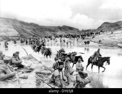 AUSTRO-HUNGARIAN soldiers during First World War - Stock Photo