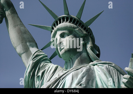 Statue of Liberty in Liberty island , New York , United States - Stock Photo