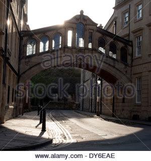 Bridge of Sighs, in Oxford City centre, Oxfordshire, UK. - Stock Photo