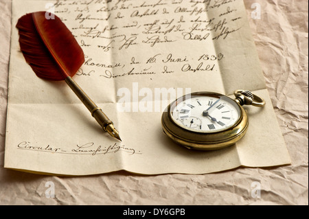 Vintage Grunge Parchment Background With Clock Faces