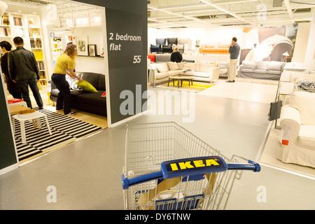 inside ikea store interior shopping warehouse area retail. Black Bedroom Furniture Sets. Home Design Ideas