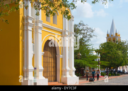 San Clemente Church in Coro (UNESCO World Heritage site), Falcon State, Venezuela - Stock Photo