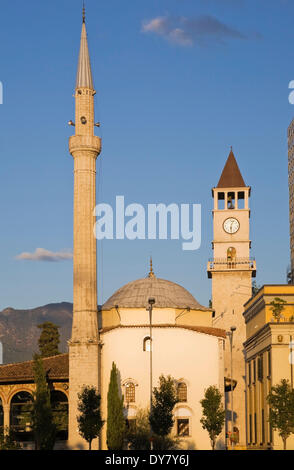Et'hem Bey Mosque, Tirana, Albania - Stock Photo