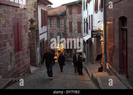 St. Jean Pied de Port at start of El Camino De Santiago de Compostela - Stock Photo