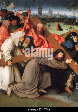 Hieronymus Bosch Christ Carrying the Cross - Stock Photo