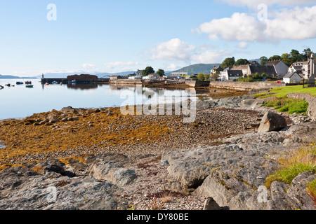 The Village of Ardrishaig on Loch Fyne in Argyll Scotland - Stock Photo