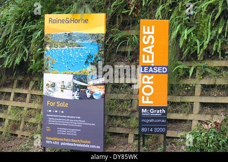 australian residential property for sale/sold/auction in avalon on sydney's northern beaches,australia - Stock Photo