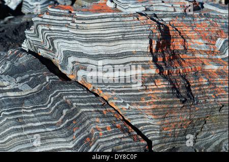 Australia, Kangaroo Island, stones, detail, structure, pattern, structure, concepts, - Stock Photo