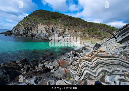 Australia, Kangaroo Island, stones, detail, structure, pattern, structure, concepts, sea - Stock Photo