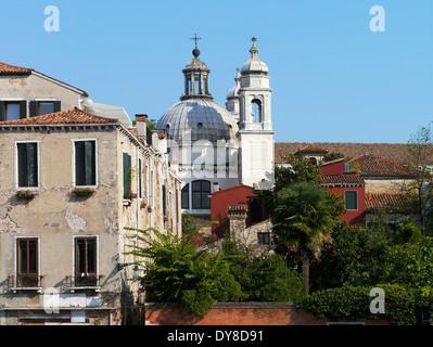 rio de san trovaso, chiesa di santa maria del rosario, dorsoduro, venice, italy - Stock Photo