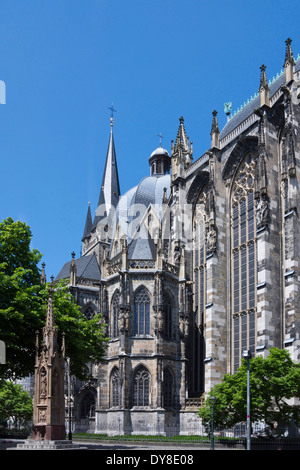 aachen cathedral, aachen city, north rhine-westphalia, germany, europe - Stock Photo
