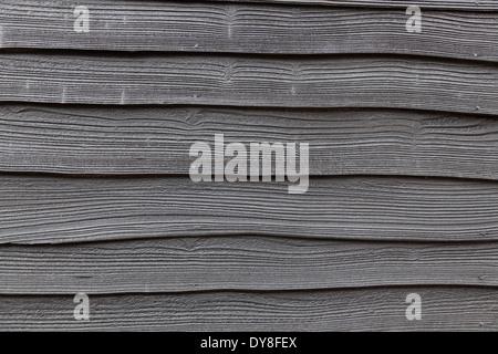 Dark wooden fence - Stock Photo