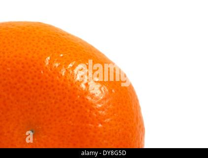 Satsuma oranges white background studio image - Stock Photo