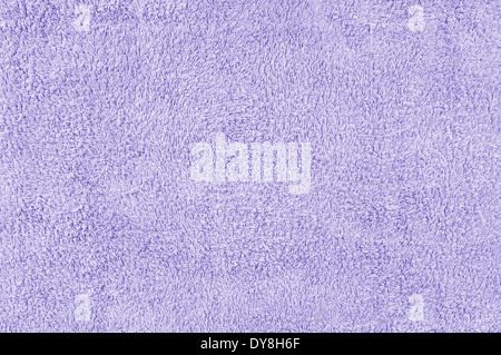 Closeup of violet towel texture for background - Stock Photo