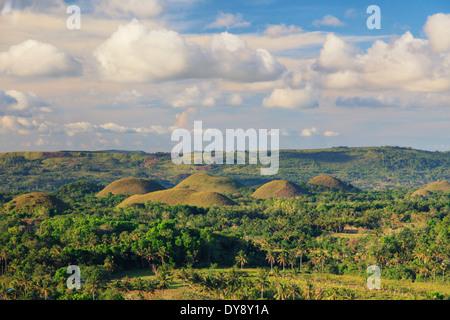 Philippines, Bohol, Chocolate Hills - Stock Photo