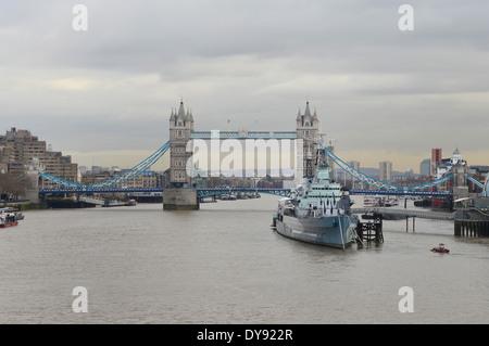 Image of Tower Bridge in London, UK - Stock Photo