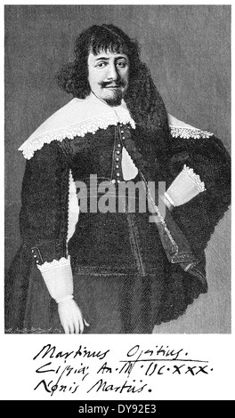 Martin Opitz von Boberfeld, 1597 - 1639, the founder of the Silesian school of poetry and a German poet of the Baroque - Stock Photo