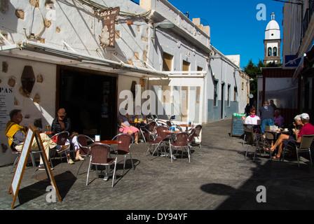 Otilia Diaz street, Arrecife, Lanzarote, Canary Islands, Spain, Europe - Stock Photo