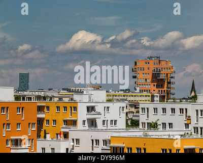 Residential complex, Munich, Germany - Stock Photo