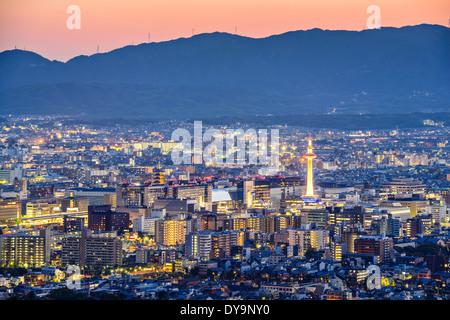 Kyoto, Japan modern skyline. - Stock Photo