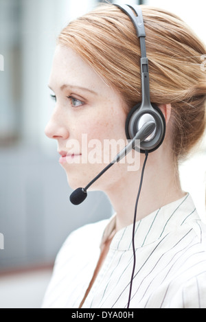 Receptionist at work - Stock Photo