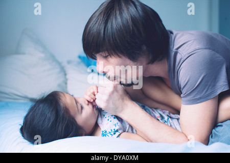 Father spending quality time with young daughter - Stock Photo