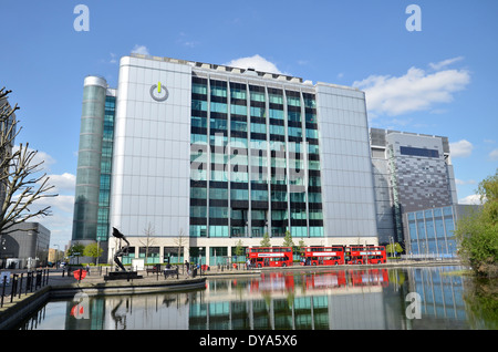 The Global Switch offices in East India Docks, east London - Stock Photo