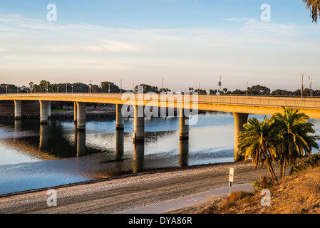 Ingraham Street Bridge.  San Diego, California, United States. - Stock Photo