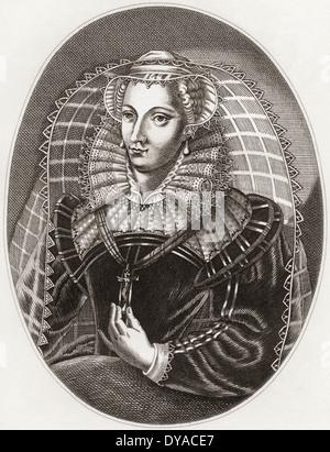 Mary, Queen of Scots, 1542 –1587, aka Mary Stuart or Mary I of Scotland. - Stock Photo