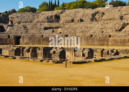 Roman ruins at Italica located in Santiponce, Seville (Spain). The city of Italica was founded in 206 BC by the - Stock Photo