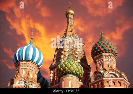 A view of the St. Basil's Cathedral, Russia, Moscow