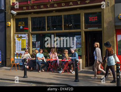 Bar on Oldham Street in the Northern Quarter, Manchester, England, UK - Stock Photo