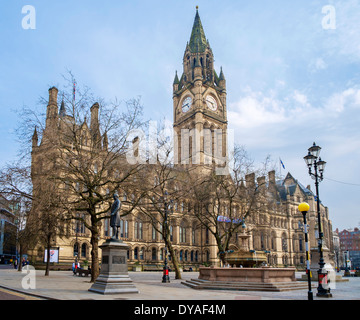 Manchester Town Hall, Albert Square, Manchester, England, UK - Stock Photo