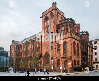 The John Rylands Library, Deansgate, Manchester, England, UK - Stock Photo