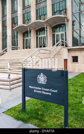 Manchester Crown Court, Crown Square, Manchester, England, UK - Stock Photo