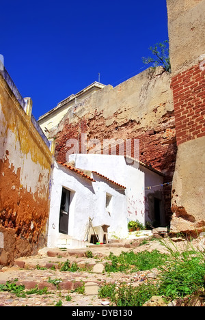 Small house in Silves. Portugal - Stock Photo