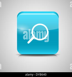 Glass Search Button Icon Vector Illustration - Stock Photo