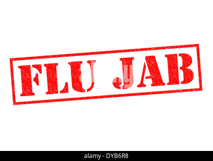 FLU JAB red Rubber Stamp over a white background. - Stock Photo