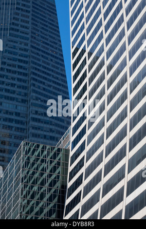 The Grace Building and other skyscrapers on 42nd Street in New York City - Stock Photo