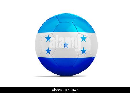 Soccer balls with teams flags, Football Brazil 2014. Group E, Honduras - Stock Photo