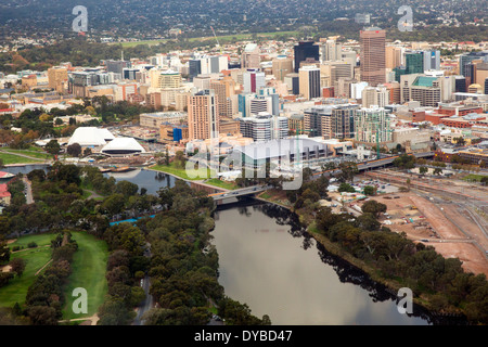 Aerial view of the city of Adelaide Australia - Stock Photo