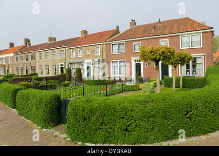 Small street in the beautiful town of Veere, close to Middelburg, Zeeland, The Netherlands. - Stock Photo