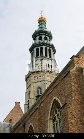 Lange Jan abbey tower in Middelburg, capital of Zeeland province, the Netherlands. - Stock Photo