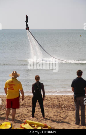 Bournemouth, UK.13th Apr, 2014.  The launch of the Coastal Activity Park at Boscombe seafront aims to reinvigorate - Stock Photo