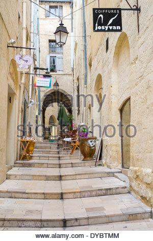 Rue du Bras de Fer, Montpellier, Hérault Department, Languedoc-Roussillon, France - Stock Photo