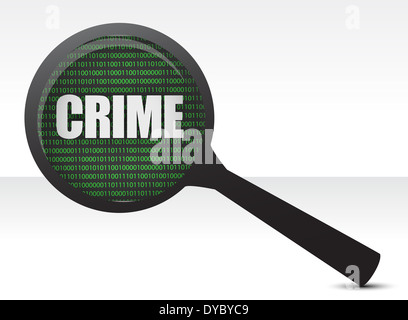 crime under investigation illustration design over white - Stock Photo