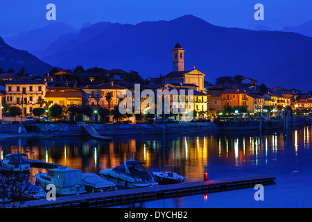 View of The Town of Feriolo, Lake Maggiore, Lombardy, Italy - Stock Photo
