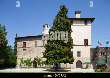 castle of the manta, cuneo, langhe, piemonte, italy, europe - Stock Photo